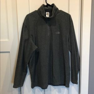 Men's The North Face 3/4 qtr zip fleece pullover